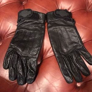 Women's Harley Davidson leather riding gloves